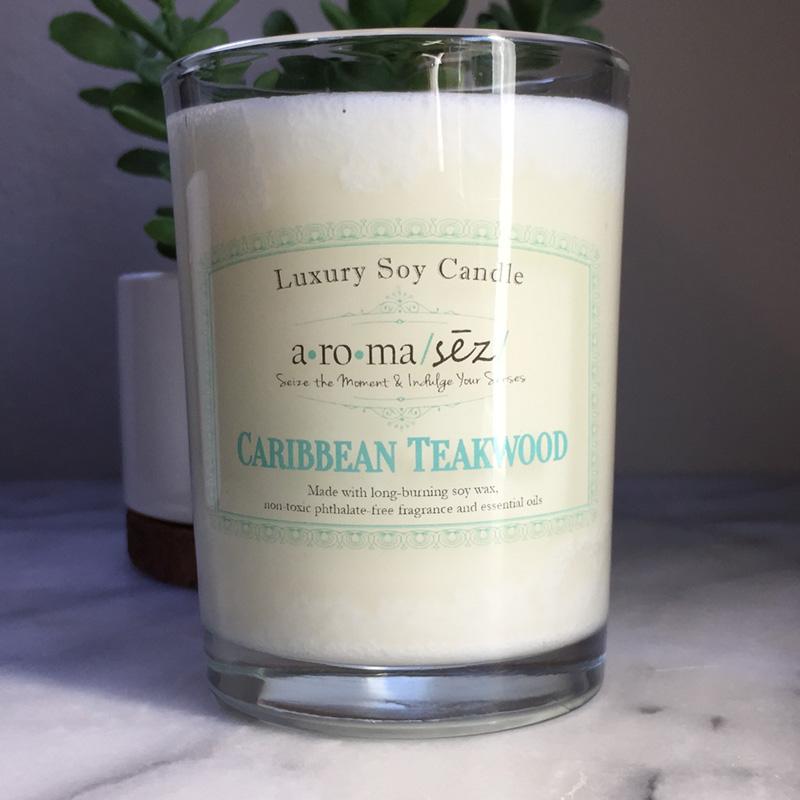 Caribbean Teakwood Soy Candle