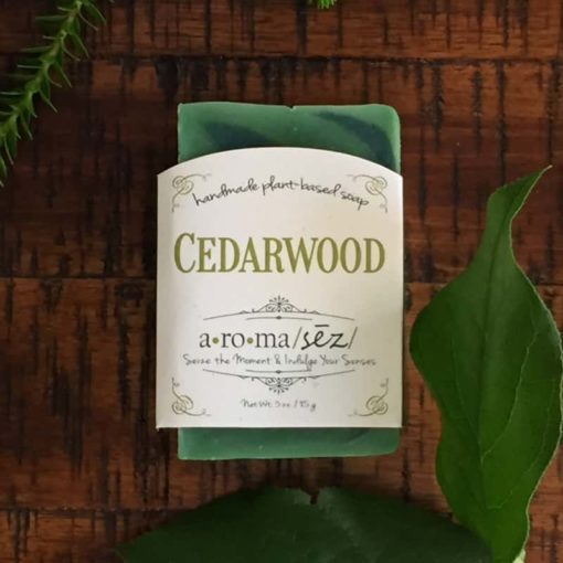Plant based soap cedarwood