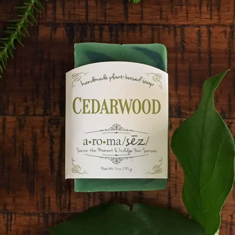 Plant based soap cedarwood